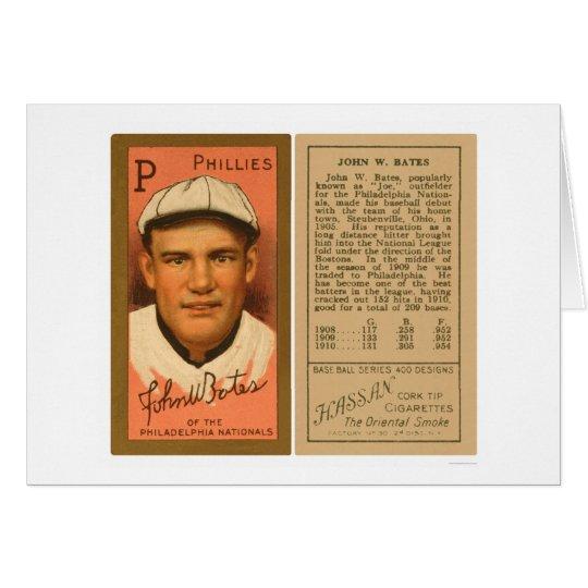 Johnny Bates Phillies Baseball 1911 Card