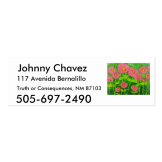 Johnny Chavez Double-Sided Mini Business Cards (Pack Of 20)