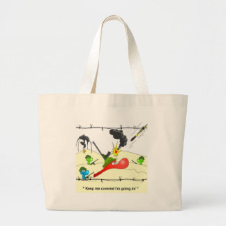 Johnny Condom Army Large Tote Bag