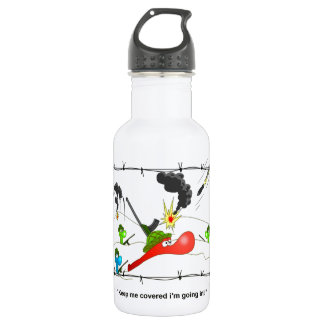 Johnny Condom Army Stainless Steel Water Bottle