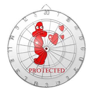Johnny Condom Protected Hearts Dartboard With Darts