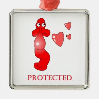 Johnny Condom Protected Hearts Christmas Tree Ornaments