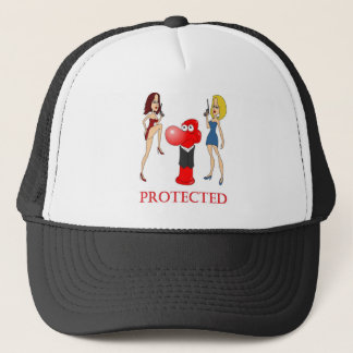 Johnny Condom Protected Trucker Hat