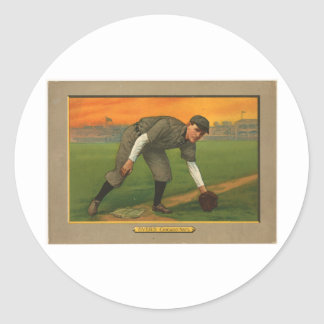 Johnny Evers Chicago Cubs 1911 Classic Round Sticker
