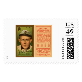 Johnny Evers Cubs Baseball 1911 Postage Stamp