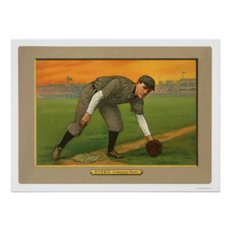 Johnny Evers Cubs Baseball 1911 Poster