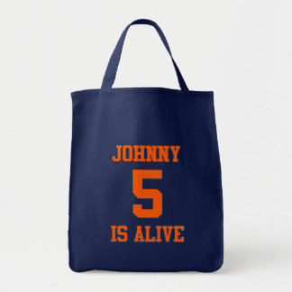 Johnny Five is Alive Canvas Bags