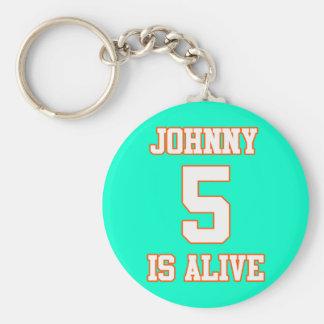 Johnny Five is Alive Basic Round Button Keychain