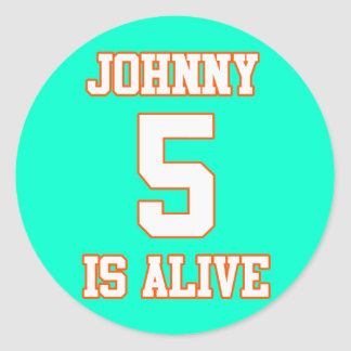 Johnny Five is Alive Classic Round Sticker