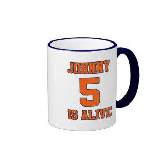 Johnny Five is Alive Ringer Mug