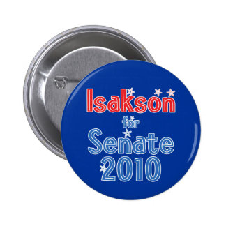 Johnny Isakson for Senate 2010 Star Design 2 Inch Round Button