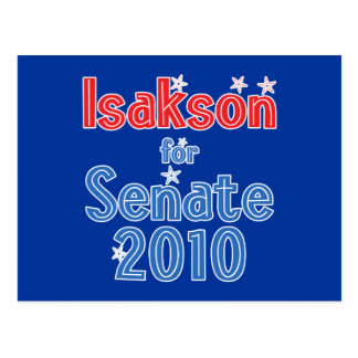 Johnny Isakson for Senate 2010 Star Design Postcard