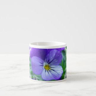 Johnny Jump Up Design Flowers Specialty Mug Espresso Cup