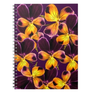 Johnny Jump Up Flower Purple Abstract Notebook