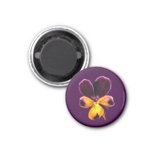 Johnny Jump Up Flower Purple Yellow Floral Magnet