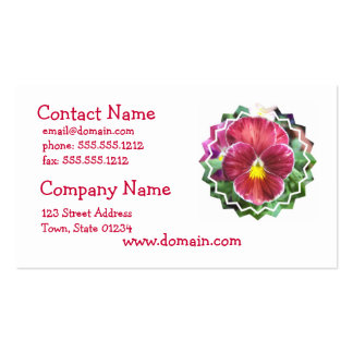 Johnny Jump Up Flowers Business Card