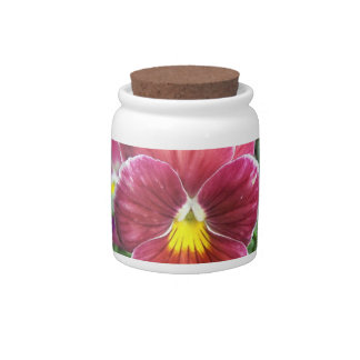 Johnny Jump Up Flowers Candy Jar
