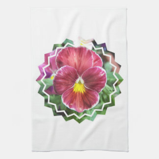 Johnny Jump Up Flowers Kitchen Towel