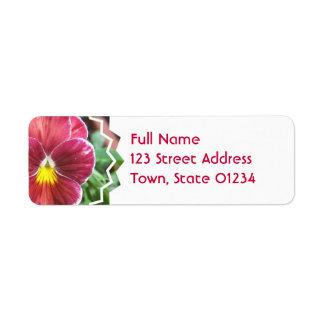 Johnny Jump Up Flowers Mailing Label Return Address Label