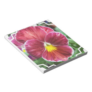 Johnny Jump Up Flowers Notepad