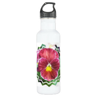 Johnny Jump Up Flowers 24oz Water Bottle