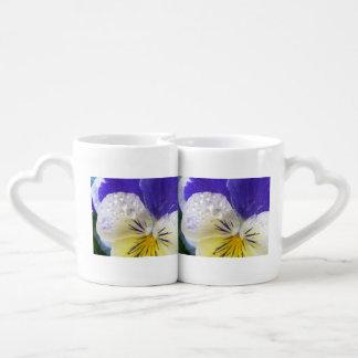 Johnny Jump Up Flowers Couples Mug