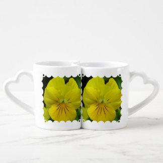 Johnny Jump Up Flowers Lovers Mug Set