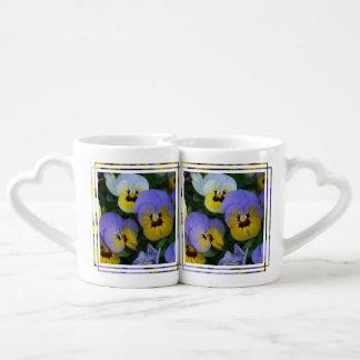 Johnny Jump Up Flowers Lovers Mug Sets