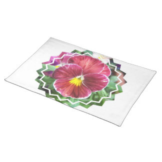 Johnny Jump Up Flowers Placemat Cloth Place Mat