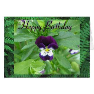 Johnny Jump Up Happy Birthday Greeting Card