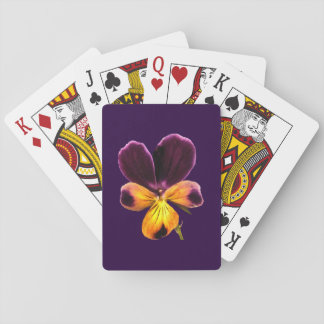 Johnny Jump Up Yellow Purple Floral Playing Cards