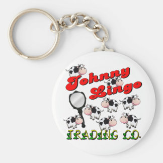 Johnny Lingo Trading Co. Basic Round Button Keychain