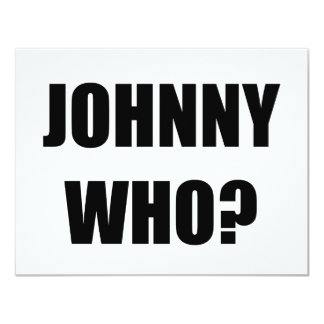 Johnny que invitación 10,8 x 13,9 cm