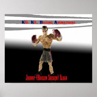 Johnny (Rockem Sockem) Sloan Poster