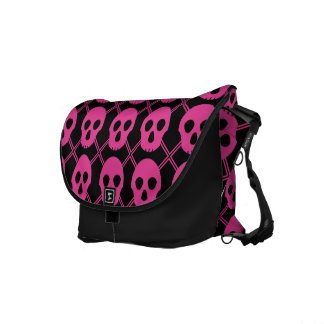 Johnny Skulls Pink Courier Bags