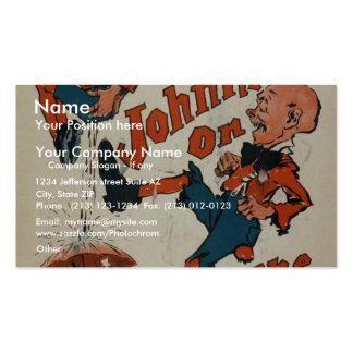 """Johnny sobre el terreno, teatro del vintage de """"Nu Plantilla De Tarjeta De Negocio"""