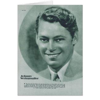 Johnny Weissmuller 1932 vintage portrait card