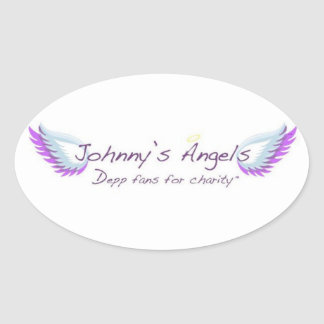 Johnny's Angels Oval Stickers