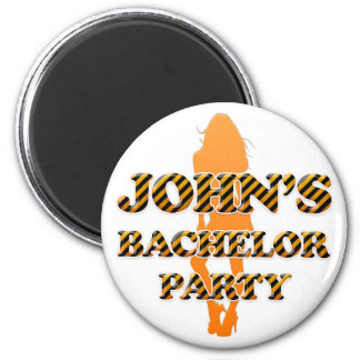 John's Bachelor Party 2 Inch Round Magnet