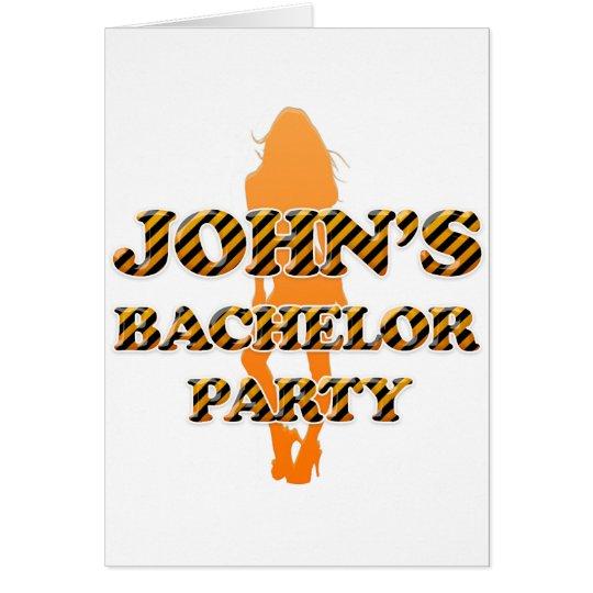 John's Bachelor Party Card