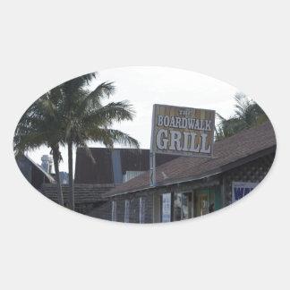 John's Boardwalk Oval Sticker