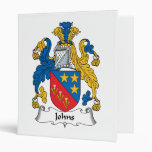 Johns Family Crest 3 Ring Binders
