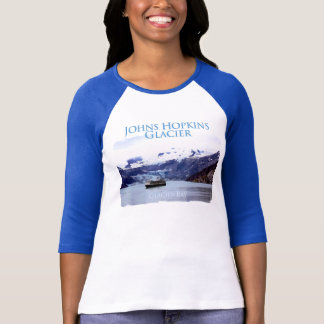 Johns Hopkins Ladies 3/4 Sleeve Raglan (Fitted) T-Shirt