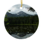 Johns Lake II at Glacier National Park Ceramic Ornament