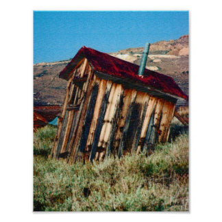 Johns Outhouse Privy 8.5x11 Poster