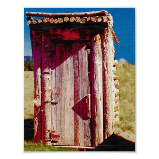 Johns outhouse privy bathroom poster zazzle for 8 x 11 bathroom