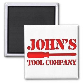 John's Tool Company 2 Inch Square Magnet