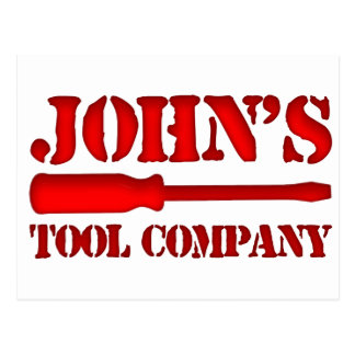 John's Tool Company Postcard