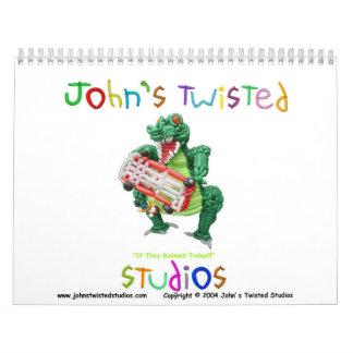 John's Twisted Studios Calendar - Customized