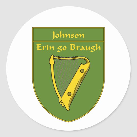 Johnson 1798 Flag Shield Classic Round Sticker